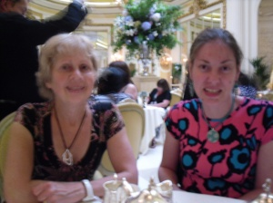 Aunty Sue and me at The Ritz